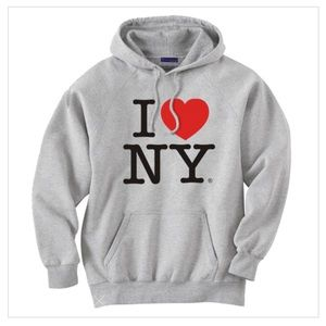 Sweaters - 🎈FREE! Gray I love NY hoodie size xs